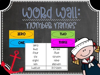 Word Wall: Number Words