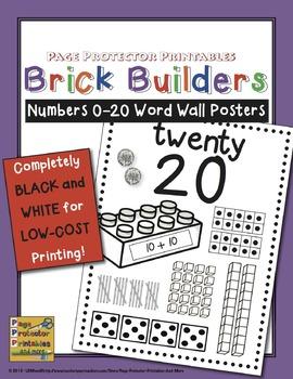 Numbers Posters Blackline Version