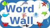 Word Wall Ocean Theme