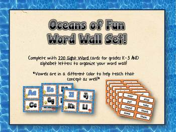 Word Wall - Oceans of Fun Theme