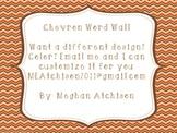 Word Wall- Orange