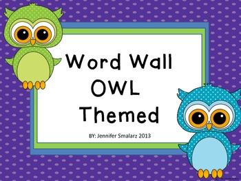 Word Wall: Owl Theme