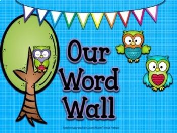 Word Wall ~ Owl themed