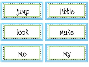 Word Wall Pack Labels and Sight Words Dolch- Editable