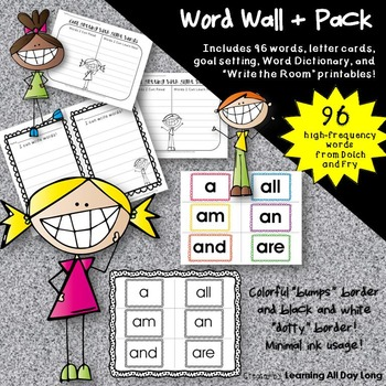 Sight Words, Goal Setting, and More: A Word Wall + Pack