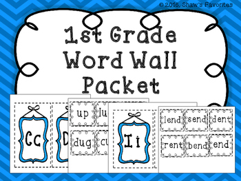 Word Wall Packet
