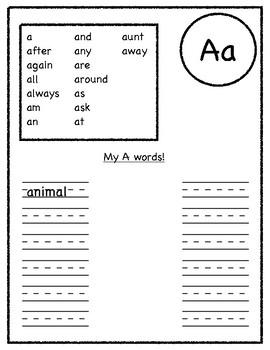 "Word Wall Packet, ""My Walking Word Wall"""