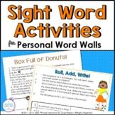 Word Wall Partner Activities