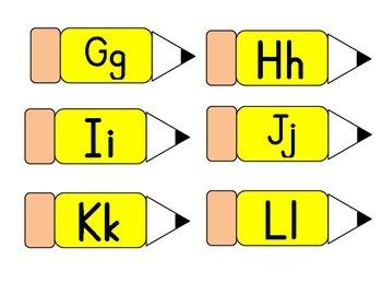 Word Wall Pencil Alphabet Labels