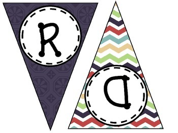 Word Wall Pennant Smooth Colors