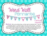 Word Wall Pennants Decoration Banner
