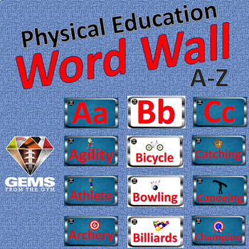 Word Wall - Physical Education Sport Theme!