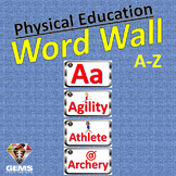 PE Word Wall - Physical Education Sport Theme!