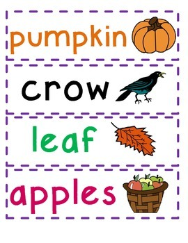Word Wall Pick Three: Fall Themed Word Work/Sentence Writing