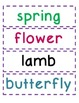 Word Wall Pick Three: Spring Themed Word Work and Word Wall Cards