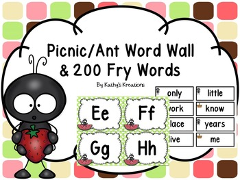 Word Wall -Picnic/Ant
