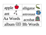 Word Wall Picture Cards A-B