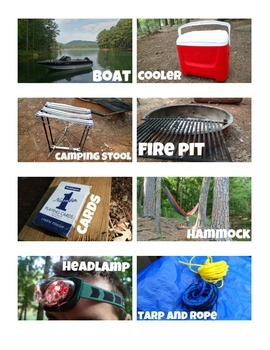 Word Wall Picture Cards {Camping Theme}