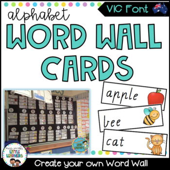 VIC Modern Cursive Word Wall Picture Cards
