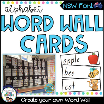 NSW Foundation Font Word Wall Picture Cards