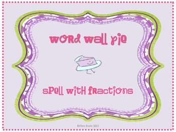 Word Wall Pie
