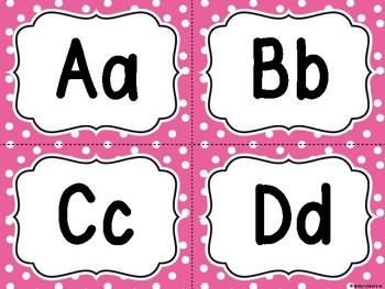 Word Wall Pink Polka Dot  -Dollar Deal