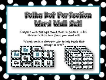 Word Wall - Polka Dot Pleasures