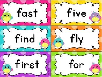 Word Wall {Polka Dots and Pretty Birds Classroom Decor Theme}