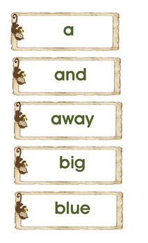 Word Wall Posters A-Z and Sight Words - Monkey Themed