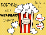 Word Wall Posters - Popping with Vocabulary Thesaurus Posters