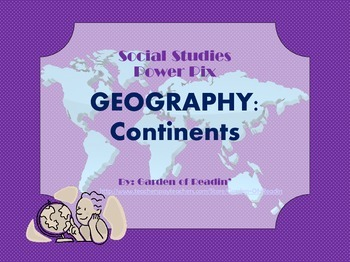 Word Wall Power Pix Geography Continents Review Posters