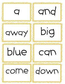 Word Wall: Pre-Primer