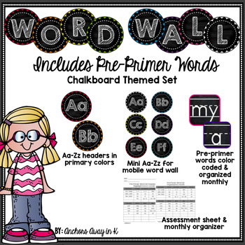 Word Wall Pre-Primer set