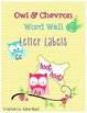 Word Wall PreK Bundle with Letter Labels