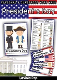 President's Day Word Wall FREE