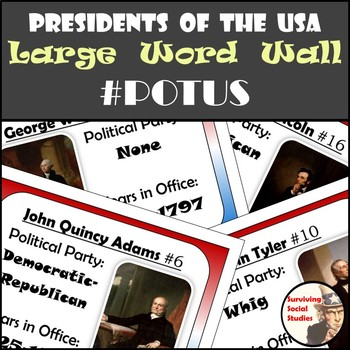Presidents of the United States - Word Wall