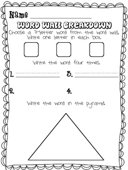 Word Wall Printables