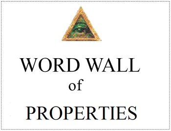 Word Wall (Properties) [FREE!]