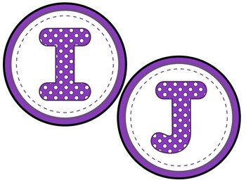 Word Wall -Purple Polka Dot Letters and 200 Fry Words -Editable Word Page