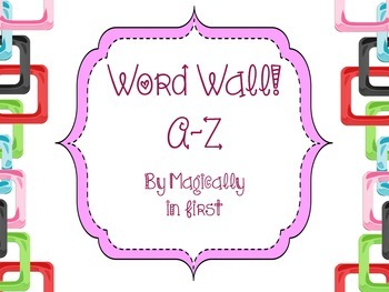 Word Wall - Purple! a-z {free}
