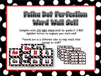 Word Wall - RED  Polka Dot Pleasures