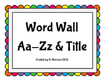 Word Wall: Rainbow Dots