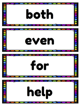 Word Wall Words (Reading Wonders Grade 2 Aligned)