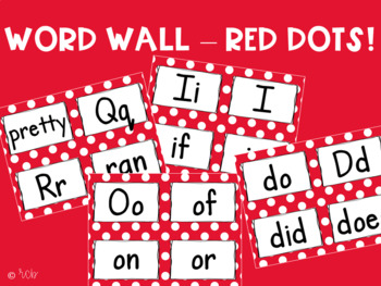 Word Wall - Red Dots - Small