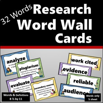 Word Wall - Research Terms