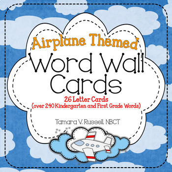 Word Wall Resource {Airplane Themed}