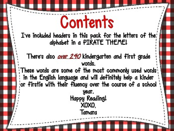 Word Wall Resource {Pirate Themed}
