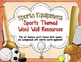 Word Wall Resources {Sports Themed}