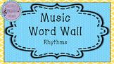 Music Word Wall- Rhythms (Purple Background)