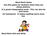 Word Wall Roll and Write